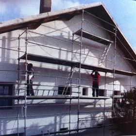 renovation de facade avec echaffaudage